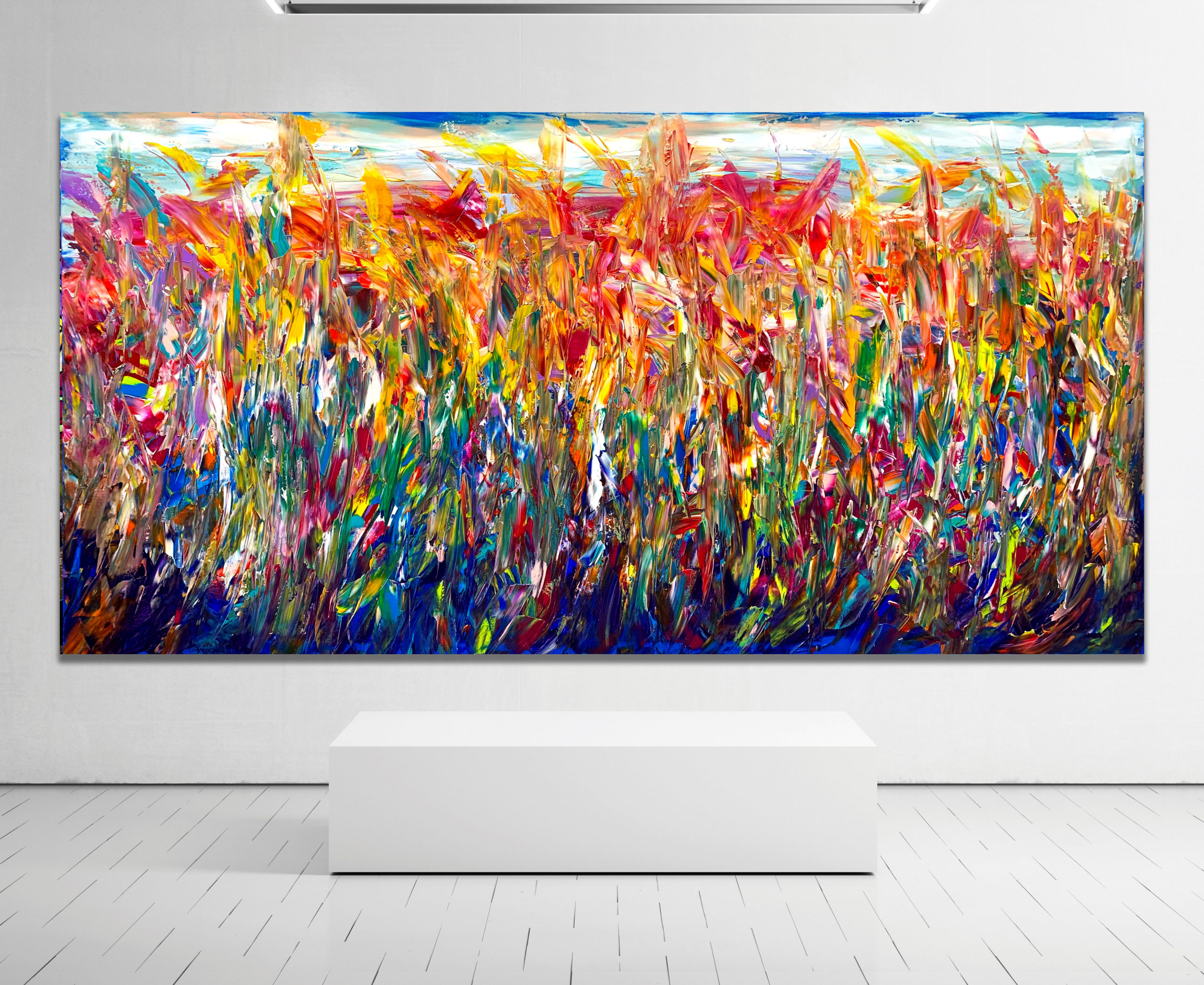 Floral Thicket Fire - Abstract Expressionism by Estelle Asmodelle