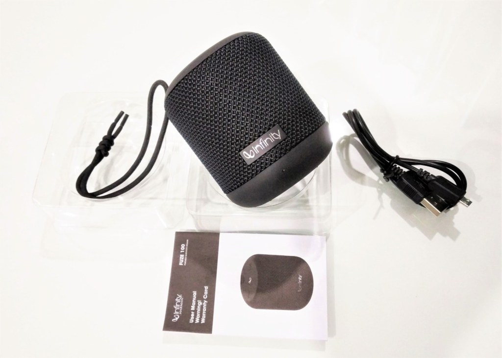 Speaker with USB Cable, Manual & Lanyard