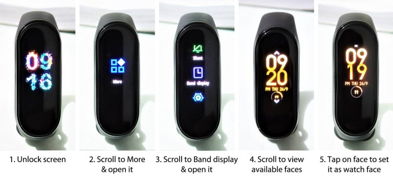 How to set built in watch face