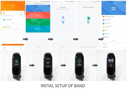 Initial Setup of MI Band 4