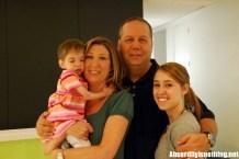 Brooke Greenberg con la famiglia