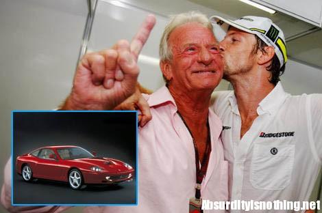 John Button e la sua Ferrari