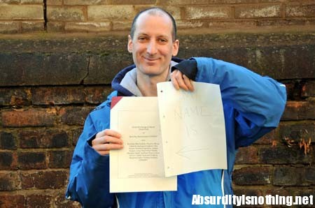 Barnaby Usansky - Cambia nome e ne sceglie uno con 197 lettere