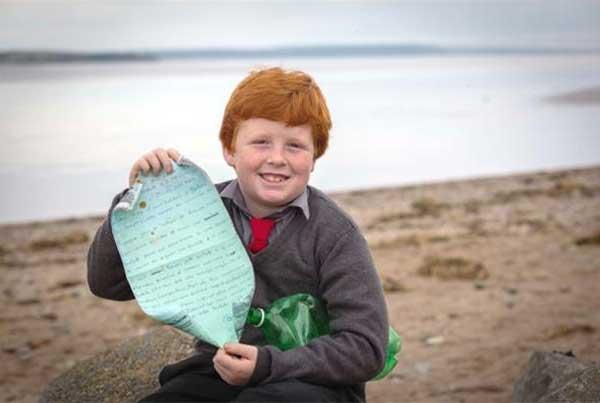 Oisin Millea - trova messaggio in bottiglia dopo 8 anni