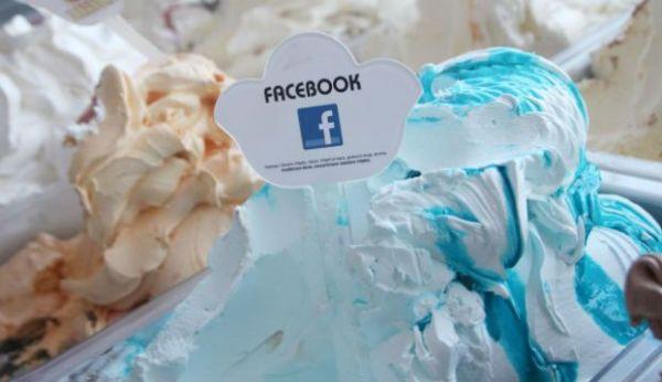 Pasticcere croato crea un gelato bianco e blu e lo chiama Facebook (1)