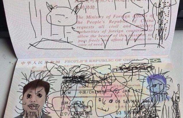 Passaporto disegnato, bloccato in Corea