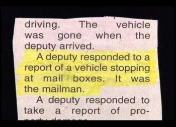 Registri della polizia, police blotters (1)