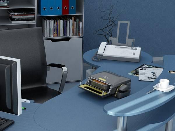 Microonde da scrivania a forma di stampante (1)