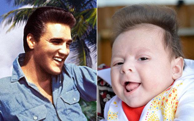 George, il bambino nato con il ciuffo di Elvis (2)