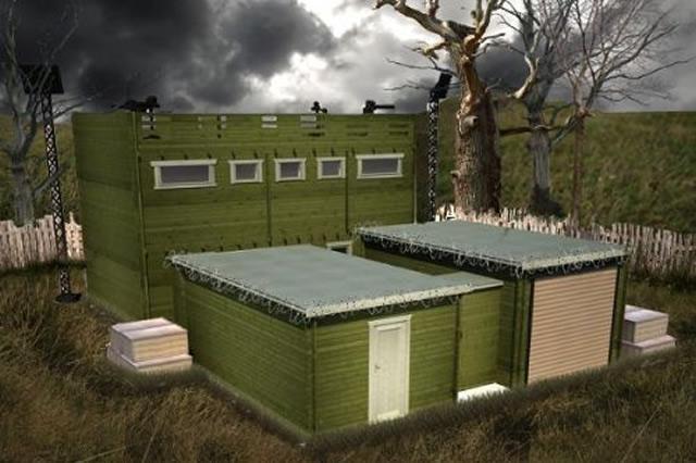 Paura di un attacco zombie? Acquista la casetta di legno zombieproof (1)