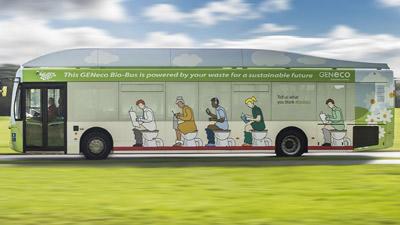 Il primo autobus alimentato a feci