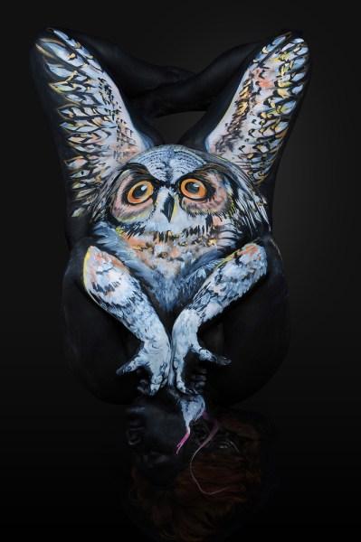 Shannon Holt - body painter, ritratti di animali su corpi umani (7)