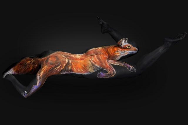 Shannon Holt - body painter, ritratti di animali su corpi umani (4)