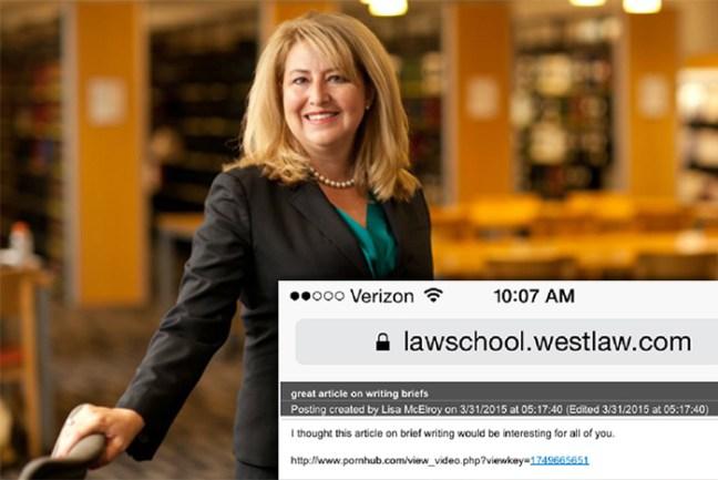 Lisa McElroy invia link porno agli studenti
