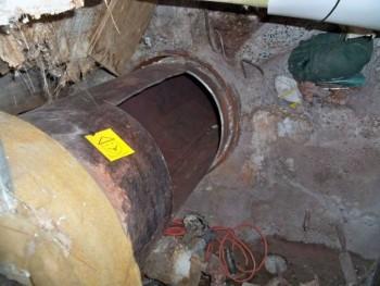 tubo ferro carcere sezione tagliata
