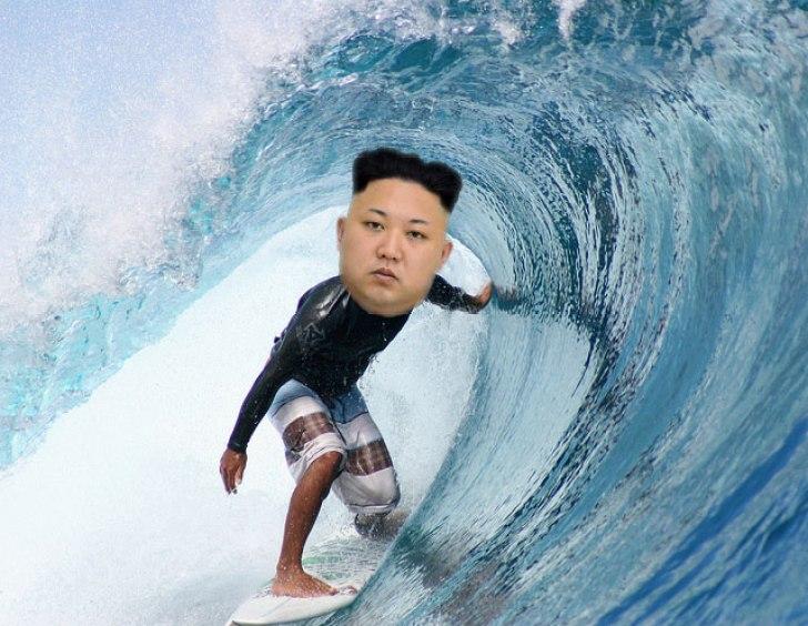Kim-Jung-Un, corea  nuova metà del surf