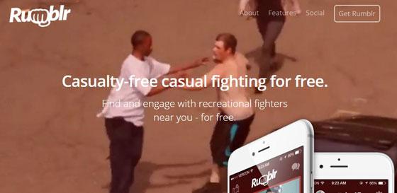 Dopo Tinder e Grindr arriva Rumblr, l'app per fare a pugni gratis