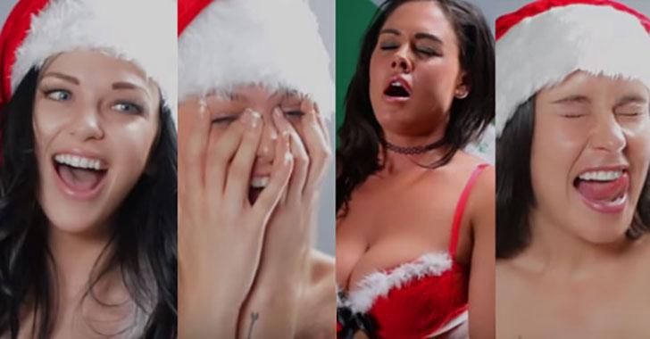 Video: ragazze cantano 'Silent Night' dutante un orgasmo