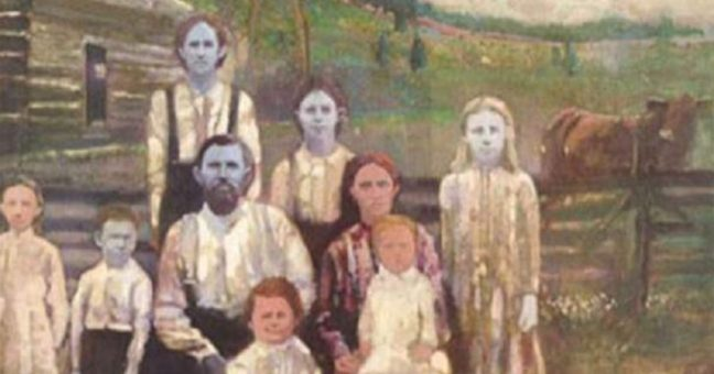 famiglia-pelle-blu