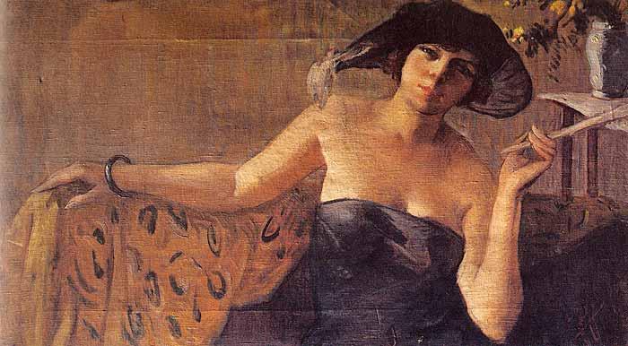 İbrahim Çallı Kadın Portresi absurdizi.com