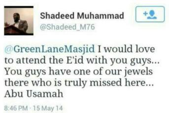 Shadeed Muhammad sad that he can't be with his misguided friends