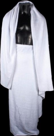 The ihraam garment worn by a man