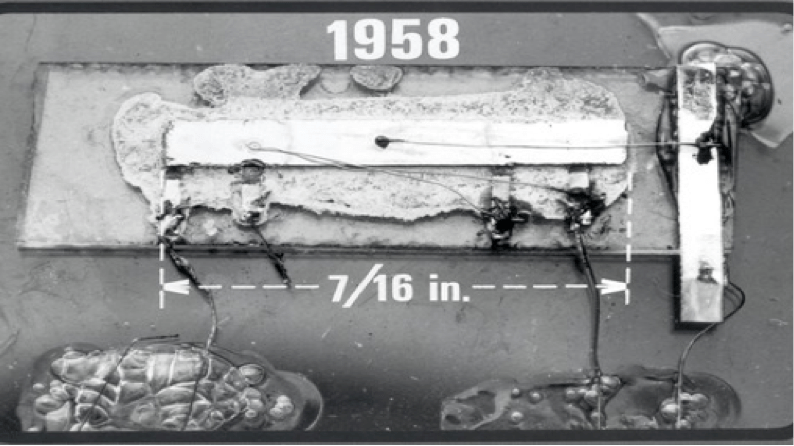 The first integrated circuit in 1958