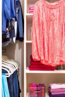 Organized Clothes in Master Closet