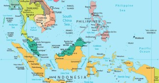 Peta Asia Tenggara ASEAN