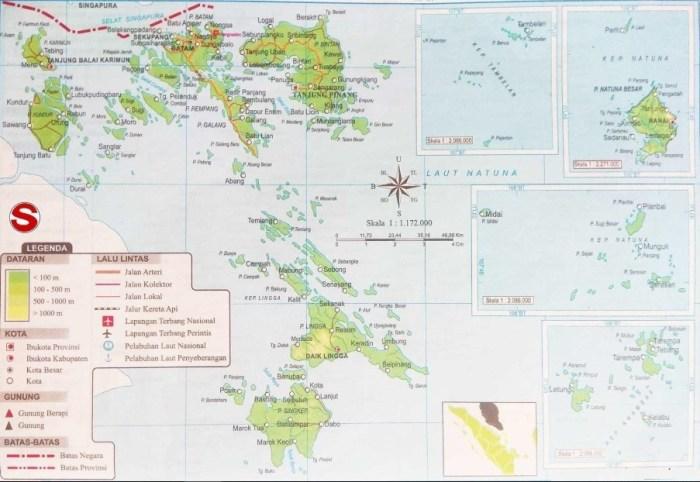 Peta Kepulauan Riau