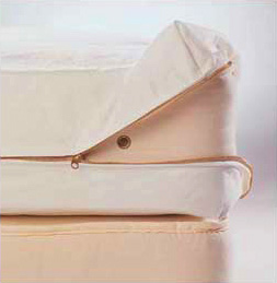 Organic Cotton Zippered Dust Mite Barrier Cloth Covers For Mattresses Futons Pillows
