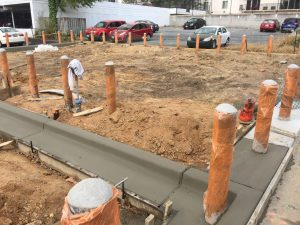 Curb and Gutter and Bollards