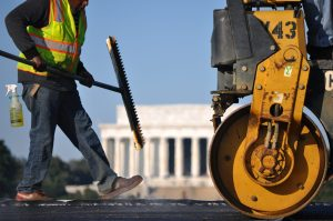 Paving at the World War II Memorial