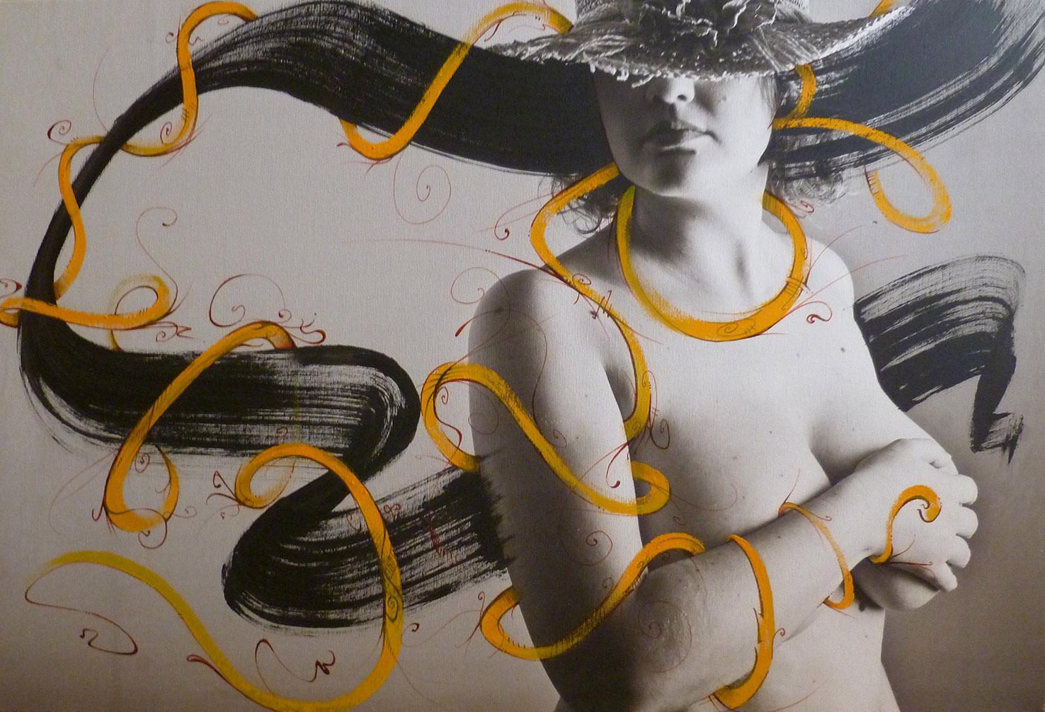 abys - da lyon -streetart illustration erotic art spacejunk venus sein femme