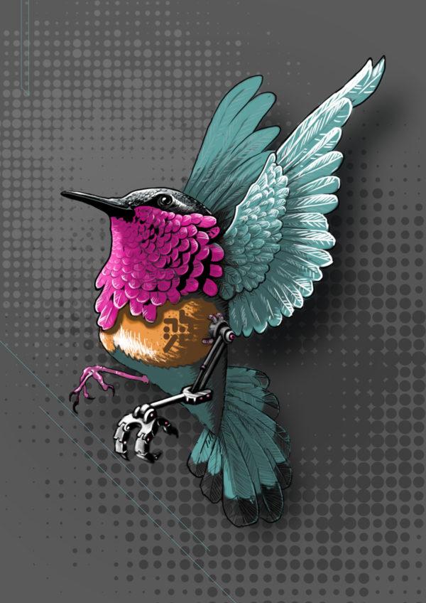 col-hybride – un oiseau aux puces du canal – villeurbanne