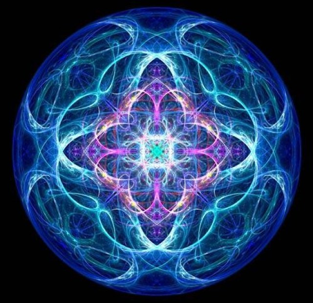 fractal mandala_blue
