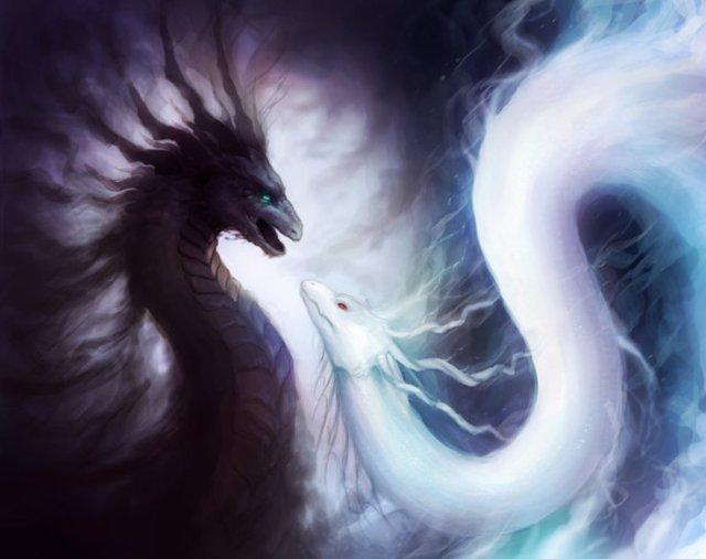 ying yang serpents