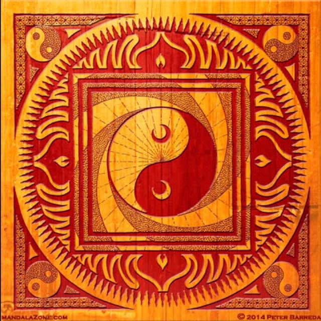 Ying Yang mandala