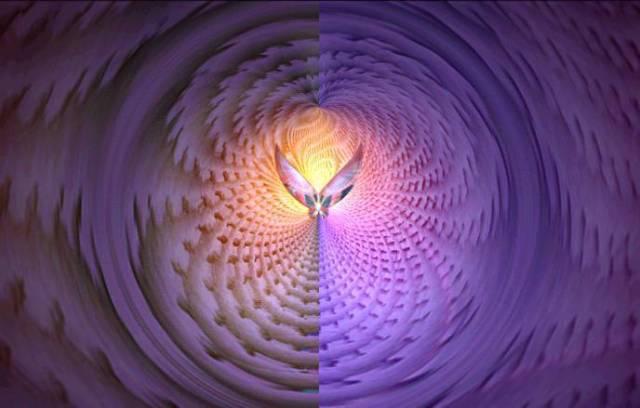 violet fractal angel
