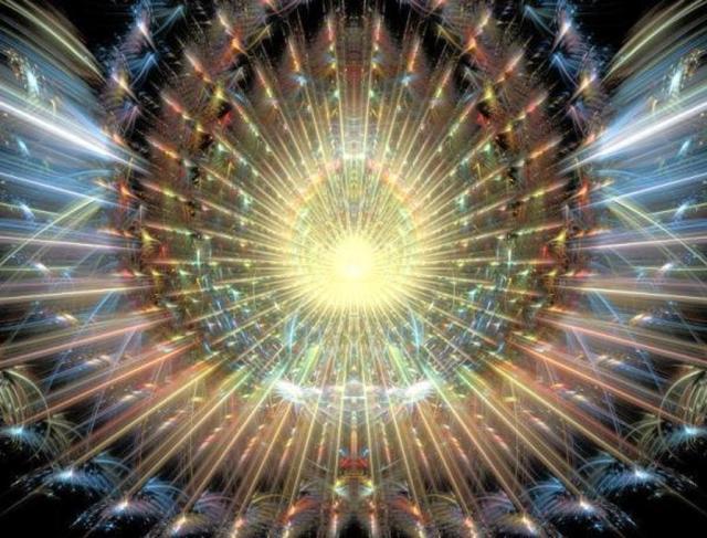 fractal rainbow burst
