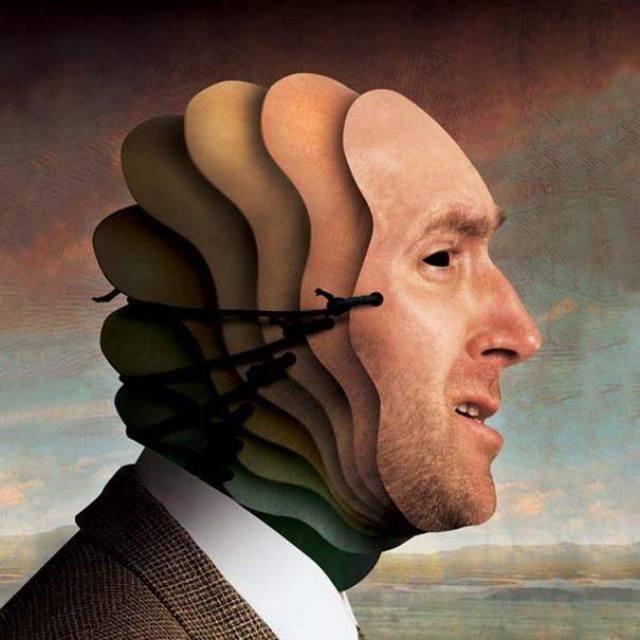 multi masked man
