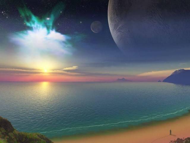 Cosmic beach walk
