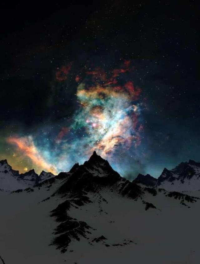 Cosmos over Alps
