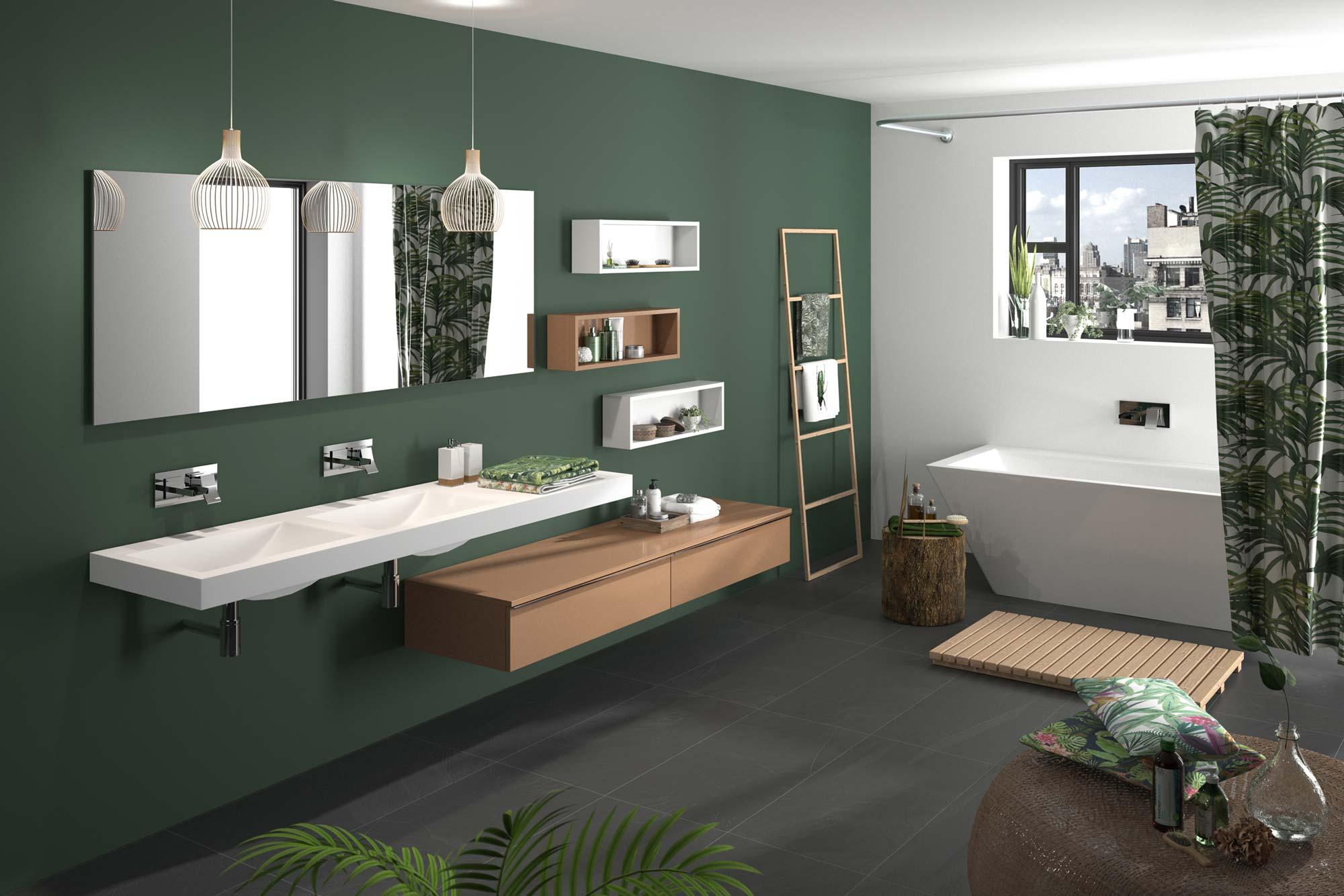 Salle de bain contemporaine AC Agencement