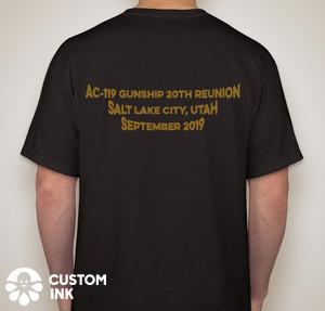 20th Anniversary Reunion T-Shirt Back - black