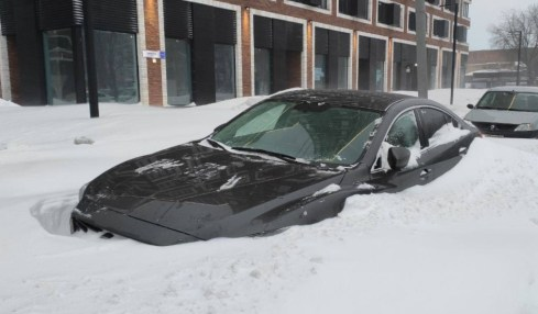 moskva sníh