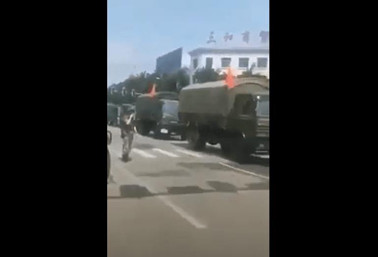 myanmar čínská armáda