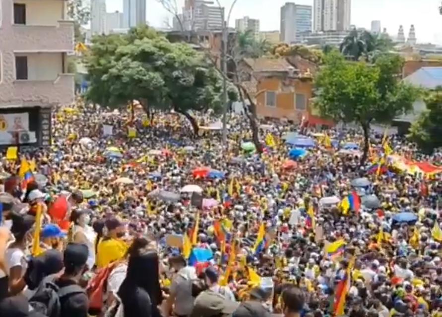 kolumbie protest