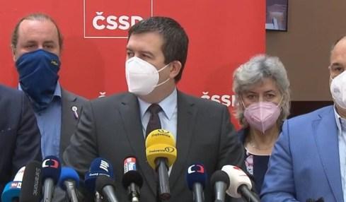 hamáček tisková konference