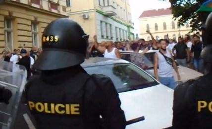 teplice protest rom